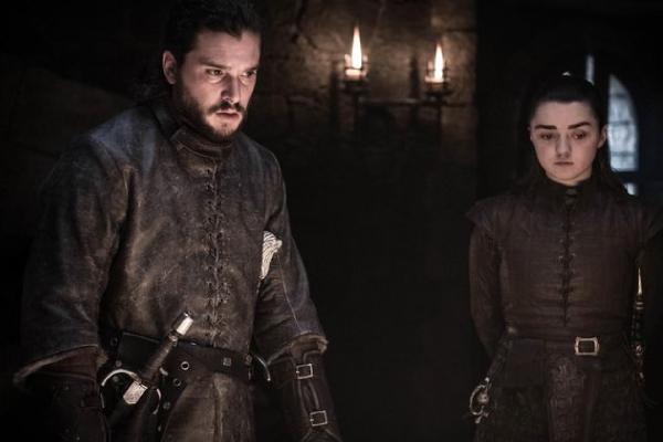 Jon Snow și Arya Stark episodul 4