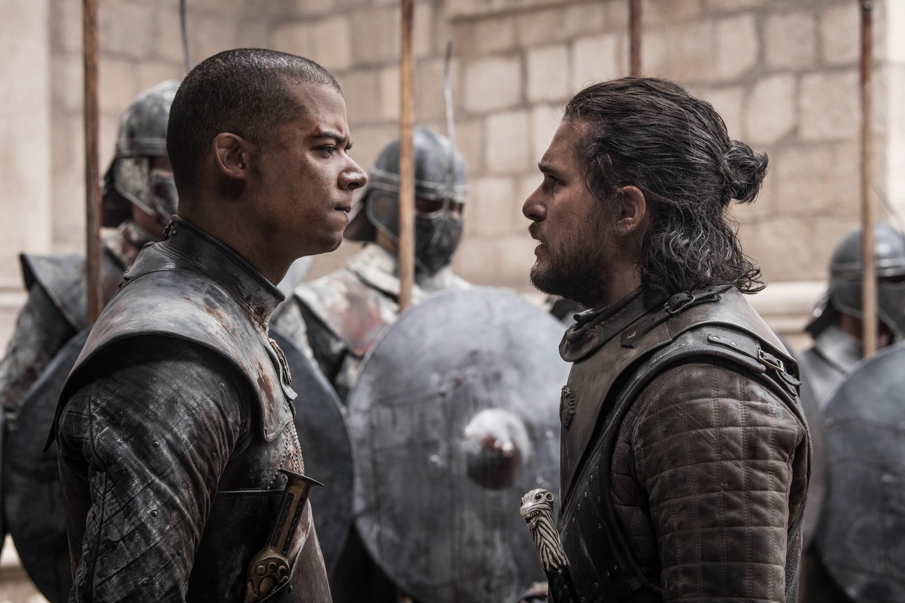 Grey Worm și Jon Snow
