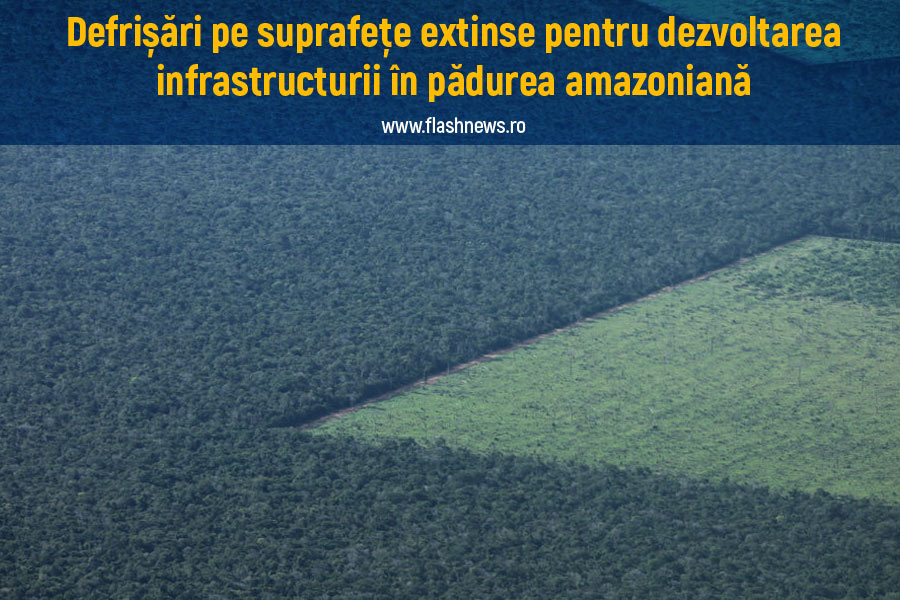 Defrișări Amazon infrastructură
