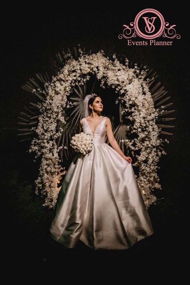 Panou floral la nunta