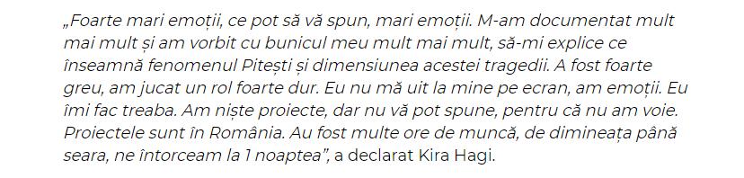 Kira Hagi declaratie