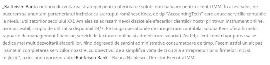Raiffeisen Bank Raluca Nicolescu, Director Executiv IMM