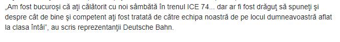 Deutsche Bahn despre Greta Thunberg
