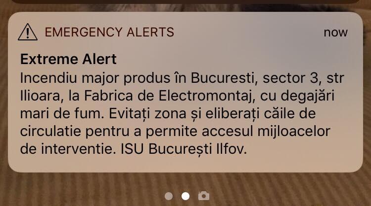 avertisment incendiu Electromontaj